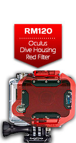 Oculus Dive Housing Red Filter for GoPro Camera
