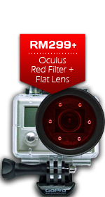 Oculus Red Filter + Flat Lens for GoPro Camera